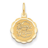 Happy Birthday Charm 14k Gold XAC757