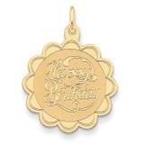 Happy Birthday Charm 14k Gold XAC761