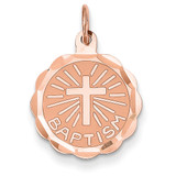 Baptism Charm 14k Rose Gold XAC887