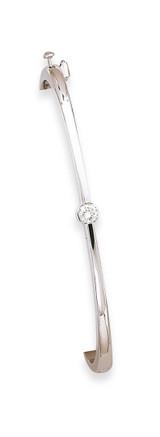 Bangle Bracelet Mounting 14k White Gold XB179