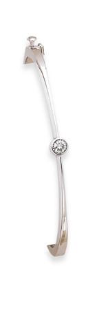 Bangle Bracelet Mounting 14k White Gold XB181