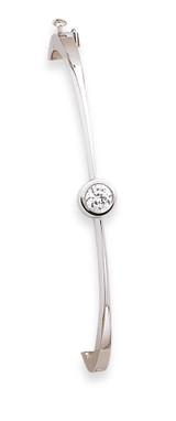 Bangle Bracelet Mounting 14k White Gold XB182