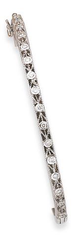 Oval Bangle Bracelet Mounting 14k White Gold XB188