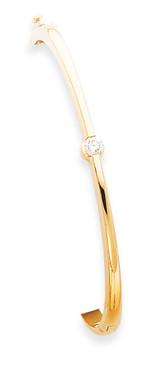 Bangle Bracelet Mounting 14k Gold XB202