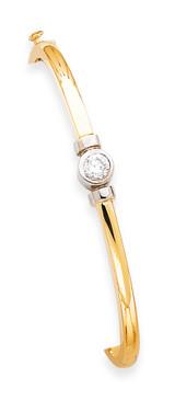 Bangle Bracelet Mounting 14k Two-Tone Gold XB211