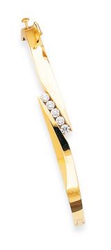 Bangle Bracelet Mounting 14k Gold XB216