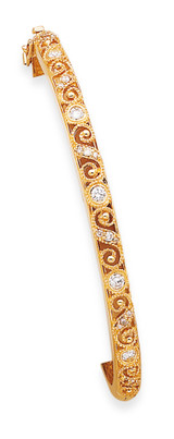 Bangle Bracelet Mounting 14k Gold XB235