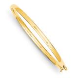 3.6mm Polished Solid Hinged Bangle Bracelet 14k Gold XB251