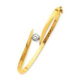 Bangle Bracelet Mounting 14k Two-tone Gold XB78