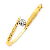 Bangle Bracelet Mounting 14k Two-tone Gold XB81