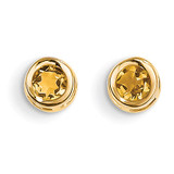 Citrine Earrings - November 14k Gold XBE11