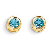 Blue topaz Earrings - December 14k Gold XBE12