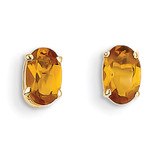 Citrine Earrings - November 14k Gold XBE23