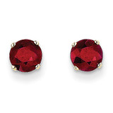 5mm Ruby Earrings July 14k Gold XBE67