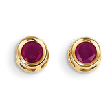 Ruby Earrings July 14k Gold XBE7