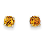 5mm Citrine Earrings November 14k Gold XBE71