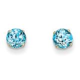 5mm Blue Topaz Earrings December 14k Gold XBE72