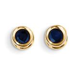 Sapphire Earrings - September 14k Gold XBE9