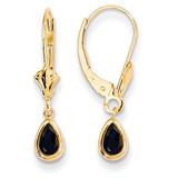 6x4mm September/Sapphire Earrings 14k Gold XBE93