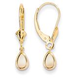 6x4mm Opal/October Earrings 14k Gold XBE94