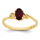 Garnet Birthstone Ring 14k Gold XBR130