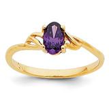 Amethyst Birthstone Ring 14k Gold XBR131