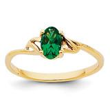 Emerald Birthstone Ring 14k Gold XBR134