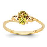 Peridot Birthstone Ring 14k Gold XBR137