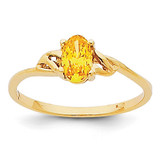 Citrine Birthstone Ring 14k Gold XBR140