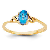 Blue Topaz Birthstone Ring 14k Gold XBR141