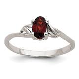 Garnet Birthstone Ring 14k White Gold XBR142