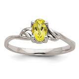 Peridot Birthstone Ring 14k White Gold XBR149