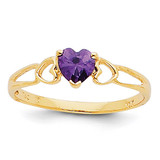 Amethyst Birthstone Ring 14k Gold XBR155