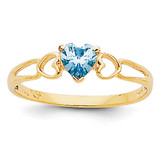 Aquamarine Birthstone Ring 14k Gold XBR156