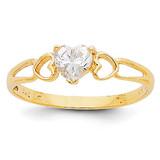 White Topaz Birthstone Ring 14k Gold XBR157