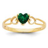 Emerald Birthstone Ring 14k Gold XBR158