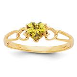 Peridot Birthstone Ring 14k Gold XBR161