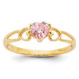 Pink Tourmaline Birthstone Ring 14k Gold XBR163