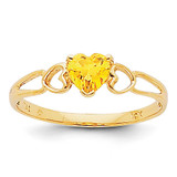 Citrine Birthstone Ring 14k Gold XBR164