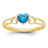 Blue Topaz Birthstone Ring 14k Gold XBR165