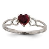 Garnet Birthstone Ring 14k White Gold XBR166