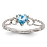 Aquamarine Birthstone Ring 14k White Gold XBR168