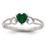 Emerald Birthstone Ring 14k White Gold XBR170