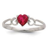 Ruby Birthstone Ring 14k White Gold XBR172