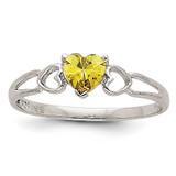 Peridot Birthstone Ring 14k White Gold XBR173