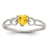 Citrine Birthstone Ring 14k White Gold XBR176
