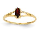 Garnet Birthstone Ring 14k Gold XBR178