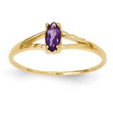 Amethyst Birthstone Ring 14k Gold XBR179