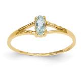 Aquamarine Birthstone Ring 14k Gold XBR180