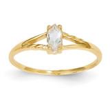 White Topaz Birthstone Ring 14k Gold XBR181